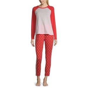 NWT Sleep Chic 2 Piece Pant & L/S Tee Pajama Set
